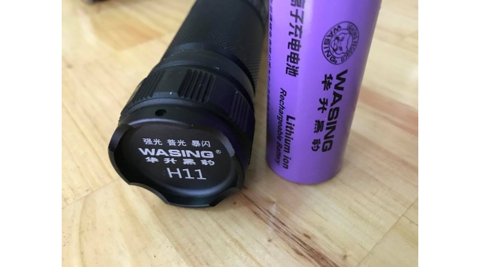 Pin 26650 5000Mah theo đèn cho thời lượng chiếu sáng lên đến 12h
